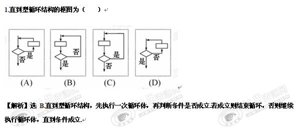 2.3《循环结构和程序框图的画法》